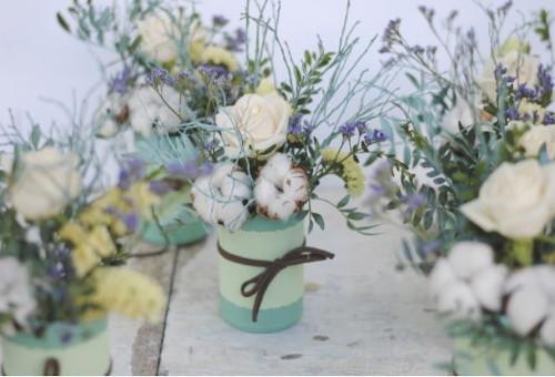 Bonito ramillete con flores